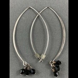 Silpada Sterling Silver Black Obsidian Earrings